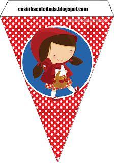Kit Festa Chapeuzinho Vermelho Para Imprimir Grátis Little Red Riding Hood Party
