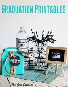 Graduation party printables - free! #classof2015