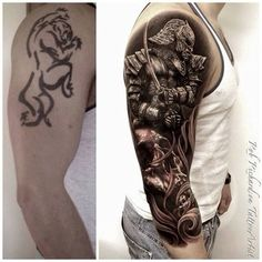33 Tattoo Transformations That Prove Change Is A Good Thing. Most are good some are not as much this is amazing