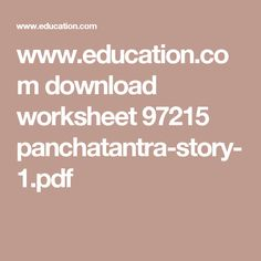 The Great Panchatantra Tales - Thinking Aloud
