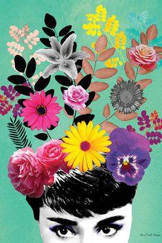 Collage Design, Collage Art, Design Art, Art And Illustration, Illustrations, Doodle Art, Canvas Art Prints, Canvas Wall Art, Arte Floral