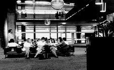 Sint Radboudziekenhuis, Nijmegen, hal opnamegebouw, 1973.