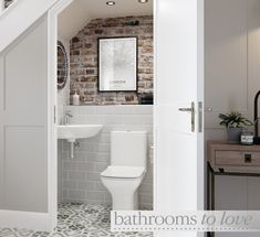 Cedarwood is a great space saving bathroom suite. It has a curved design so it is ideal for smaller bathrooms, cloakrooms and en-suites⠀ -⠀ -⠀ -⠀ Small Downstairs Toilet, Small Toilet Room, Downstairs Cloakroom, Cloakroom Toilet Downstairs Loo, Bathroom Under Stairs, Attic Bathroom, Bathroom Toilets, Toilet Under Stairs, Understairs Bathroom