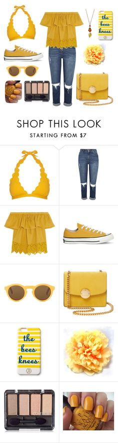 """Untitled #248"" by vasilevakatyaivanova ❤ liked on Polyvore featuring beauty, Marysia Swim, Madewell, Converse, CÉLINE, Marc Jacobs, Draper James and OPI"