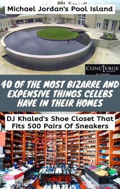 40 Of The Most Bizarre and Expensive Things Celebs Have In Their Homes Weird World, Celebs, Celebrities, Celebrity, Famous People