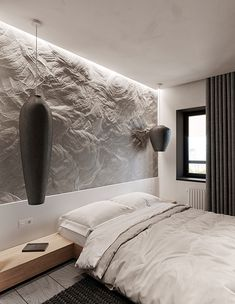 Modern apartment with ethnic and natural elements. Luxury Bedroom Design, Decor Interior Design, Condo Design, House Design, Home Decor Bedroom, Living Room Decor, Tadelakt, Apartment Projects, Residential Complex