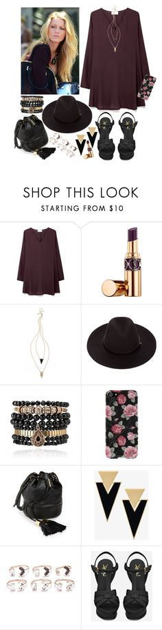 """""""Sin título #2492"""" by agus-lapipita ❤ liked on Polyvore featuring American Vintage, Yves Saint Laurent, Jules Smith, Samantha Wills, Agent 18, See by Chloé and Forever 21"""