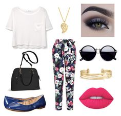 """""""Untitled#5"""" by arfinch05 ❤ liked on Polyvore featuring MANGO, New Look, Nine West, Avenue, Lime Crime, Sonal Bhaskaran and Stella & Dot"""