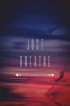 Just breath lock screen wallpaper