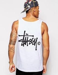 Stussy Vest With Basic Logo Back Print