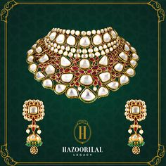 #PolkiPerfection : Beauty burning bright, an unforgettable sight. #HazoorilalLegacy #Hazoorilal #Jewelry #Earrings #Necklace
