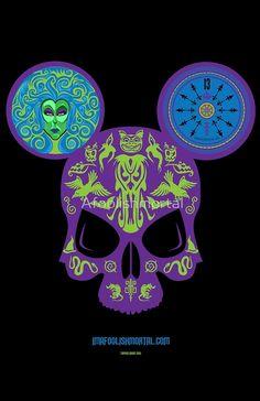 Haunted Mansion Skull by Imafoolishmortal by Afoolishmortal