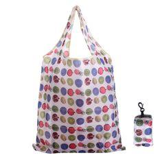 Azar del color del totalizador de la bolsa de asa del bolso reutilizable bolsas de la compra plegable eco portadora de natación gimnasio playa