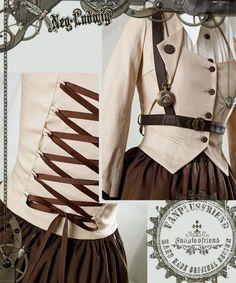 """love this front design. ~LL. """"Machine Birdcage"""" Steampunk Lolita Vest"""