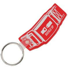 Buckle your seatbelt, seatbelt-shaped custom key tags promote road safety!