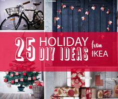 ikea hacks. Many cute and doable Christmas ideas!