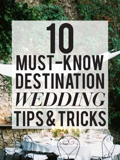 super helpful destination wedding advice