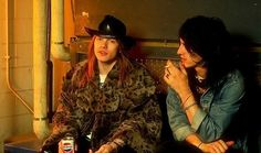 Izzy Stradlin and Axl Rose