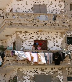 Bullet-riddled (Gaza Strip)… just something to think about, when you think your life sucks. We Are The World, Our World, Heiliges Land, Gaza Strip, Clothes Line, Middle East, Cool Photos, Interesting Photos, Amazing Photos