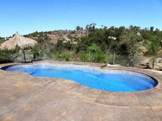 Swimming Pool Pictures, Cool Swimming Pools, Swimming Pool Designs, Cool Pools, Fire Pit Near Pool, Latham Pool, Viking Pools, Swimming Pool Mosaics, Fiberglass Swimming Pools