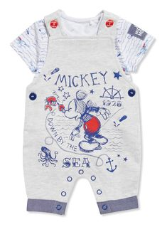 Grey Disney Mickey Mouse Jersey Bibshort and Body Set (Newborn - 18 months) from Tu at Sainsbury's ! Your Online Shop for Baby Character Shop Luxury Baby Clothes, Disney Baby Clothes, Cute Baby Clothes, Disney Outfits, Baby Disney, Disney Mickey, Cute Outfits For Kids, Toddler Outfits, Baby Boy Outfits