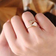 90e50c63d designer DIVAS Dream wedding jewelry ring S925 sterling silver natural  fritillary skirt opening ring women banquet