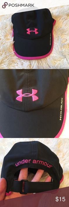 Like new Under Armour Hat Like new pink and black Under Armour hat. Any questions, just ask. Ships same day from a smoke free home. Relisted because previous buyer cancelled. Under Armour Accessories Hats