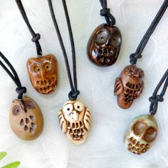 Pottery Owl Pendant / ONE / Handmade / Owl Charm / by TuppersPerch, $10.00