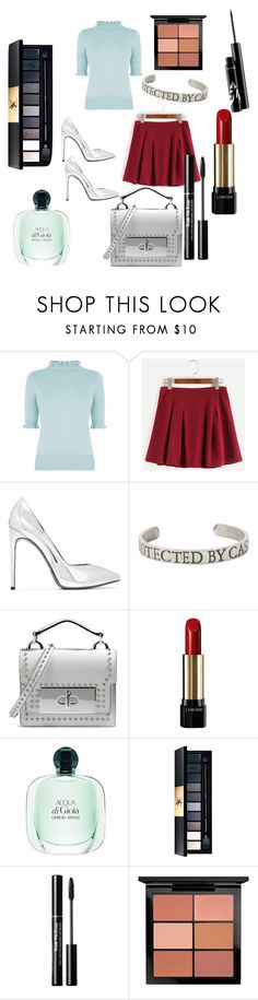 """""""Untitled #329"""" by mistress-webb ❤ liked on Polyvore featuring Oasis, Yves Saint Laurent, Marc Jacobs, Lancôme and MAC Cosmetics"""