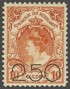 Netherlands Opruimingsuitgifte 2,50 op 10 gulden oranje met certificaat Moeijes 1990, cat.w. 375  Lot condition **  Dealer Corinphila Veilingen  Auction...