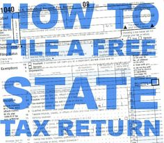 Free STATE Income Tax Filing Online
