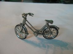 S 17g Vintage HM Miniature BICYCLE 900- 925 sterling SILVER by spyrinex06 on Etsy