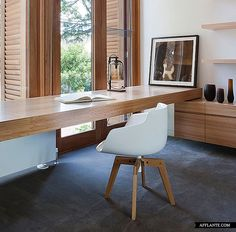 Integrated work space, Wellington Street House | Robert Mills Architects | via afflante...