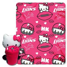 Use this Exclusive coupon code: PINFIVE to receive an additional 5% off the Detroit Lions NFL Hello Kitty Hugger with Throw at SportsFansPlus.com