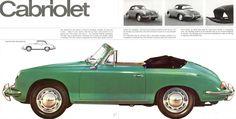 1964 Porsche 356C U.S. brochure page 10 & 11