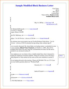 Sample Business Letter Format Example Samples Word Pdf Post
