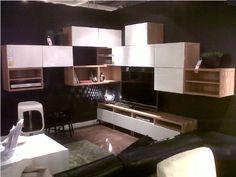 Composition rangement mural Ikea Besta Bois gris blanc Leds | Virginie Boyer Daumas ...