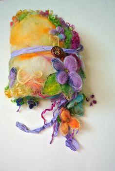 journal felted wool journal art book   enchanted by beautifulplace