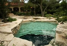 Naturalistic swimming hole. Sitio Design by J.H.