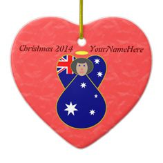 Australian Angel Flag Black Hair Christmas Ornaments Lovely black-haired angel flies in to help you celebrate Christmas or any special day. She proudly wears the Flag of Australia, or Australian Flag. Design by @auntieshoe For more like this go to http://www.zazzle.com/angelflags?rf=238656250999501047&tc=PinterestChristmasAnytimeOrn