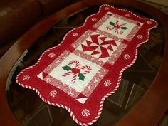 Candy Cane Table Runner idea ~
