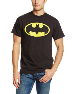 DC Comics Men's Batman Basic Logo T-Shirt   #tshirt #tshirts #batmantshirt #batmantshirts #printedtshirts #graphictshirts #tshirtdesign #customteeshirts #tshirtsonline #tshirtmaker