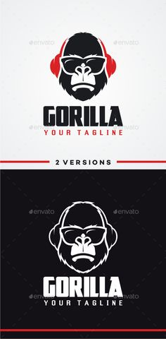 DJ Gorilla Logo Template #design #logotype Download: http://graphicriver.net/item/dj-gorilla-logo/12014676?ref=ksioks