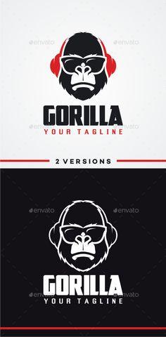 DJ Gorilla Logo Template #design #logotype Download: http://graphicriver.net/item/dj-gorilla-logo/12014676?ref=ksioks
