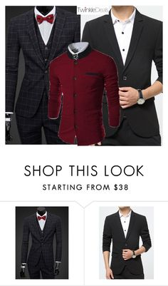 """""""elegance"""" by fatimka-becirovic ❤ liked on Polyvore featuring men's fashion, menswear, casual, blazer, pants and twinkledeals"""