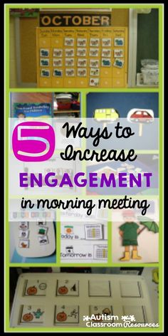 5 Ways to Increase Engagement in Morning Meeting I love when morning meeting or circle time is so engaged that the kids and the staff are having fun. Here are 5 ways to increase everyone's engagement in whole group activities in the special education clas Morning Meeting Kindergarten, Morning Meeting Activities, Circle Time Activities, Morning Meetings, Morning Work, Today Morning, Morning News, Autism Classroom, Classroom Activities