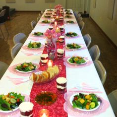 table setting for valentine banquet