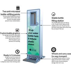 Supporting your community events can be made easier with the Aquafil Eventa. The portable bottle filling station can be used for both indoor and outdoor events, which makes clean and fresh drinking water available everywhere. Sponsor more of your community events with the Aquafil Eventa. #CIVIQAu #Aquafil #AquafilEventa #events #publicspaces #public #concerts #fillupyourbottle #waterfillingstation #drinkingfountain #drinkwater #water #hydration #keephydrated Drinking Fountain, Drinking Water, Filling Station, Community Events, Fresh And Clean, Outdoor Events, Concerts, Public, Indoor