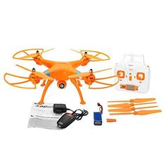 Amazingbuy - Syma X8C Venture Headless Mode RC Quadcopter Drone UAV RTF UFO with 2MP HD Camera - Newest Version - Orginal Box - 4 additional Propellers   4GB Memory Card   Memory Card Reader   Tracking Number - Orange Color - With Amazingbuy LOGO >>> Read more reviews of the product by visiting the link on the image.