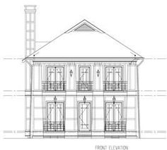 This is a black and white front elevation of these Craftsman Homeplans. Brick House Plans, Open Floor House Plans, Small House Floor Plans, Porch House Plans, Basement House Plans, Craftsman House Plans, Craftsman Style, Luxury Floor Plans, Modern Floor Plans